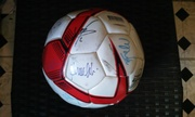 Ac milan hand signed ball